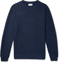 Oliver Spencer Robin Striped Cotton Jersey Sweatshirt Navy