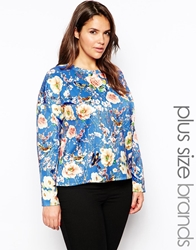 Alice And You Long Sleeve Tee In Floral Print Multi