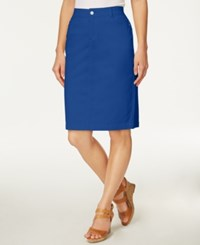 Charter Club Denim Pencil Skirt Only At Macy's Sur Blue