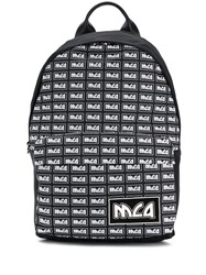 Mcq By Alexander Mcqueen All Over Logo Backpack Black
