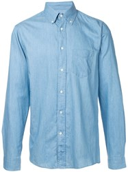 Gant Rugger Luxury Hobd Shirt Men Cotton L Blue