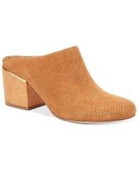 Calvin Klein Women's Judia Slip On Mules Women's Shoes Almond Tan