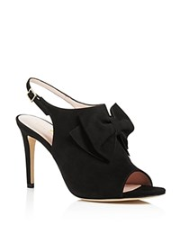 Kate Spade New York Ilyse Bow Open Toe Slingback Sandals Black
