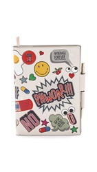 Anya Hindmarch Journal With Allover Stickers Chalk