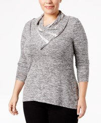 Styleandco. Style Co. Plus Size Cowl Neck Marled Top Only At Macy's Gunmetal