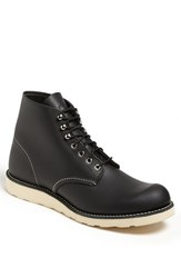 Red Wing Shoes Men's Red Wing Round Toe Boot Black Chrome 8165