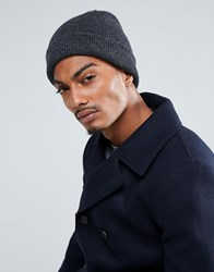 Selected Homme Beanie In Wool Anthracite Grey