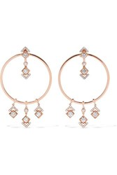 Messika My Soul 18 Karat Rose Gold Diamond Earrings One Size