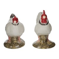 Quail Ceramics Chicken Salt And Pepper Shakers Light Sussex