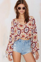 Nasty Gal After Party Vintage Lula Peasant Top