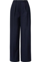 By Malene Birger Enil Wool Blend Wide Leg Pants Navy