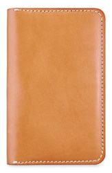 Red Wing Shoes Leather Passport Wallet Brown Tanned Vegetable