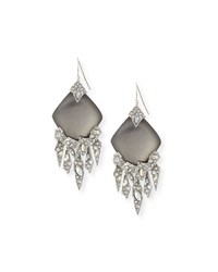 Holiday Glacial Crystal Chandelier Earrings Black Alexis Bittar