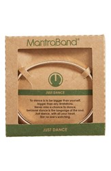 Mantraband Women's Just Dance Engraved Cuff Rose Gold