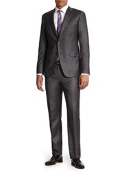Saks Fifth Avenue Basic Wool Suit Charcoal