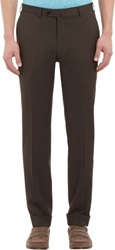 Isaia Gregory Trousers Brown Size 30