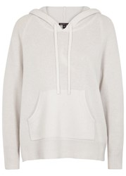 James Perse Light Grey Hooded Cashmere Jumper Off White