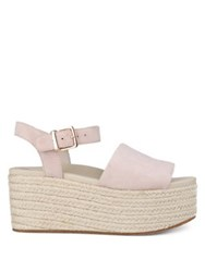 Kenneth Cole Indra Suede Wedge Espadrilles Marine