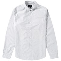 A.P.C. Button Down Flower Print Shirt Grey