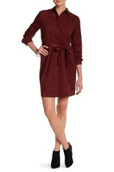 Joe Fresh Faux Suede Dress Red