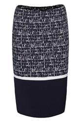 James Lakeland Tube Panel Print Skirt Black White
