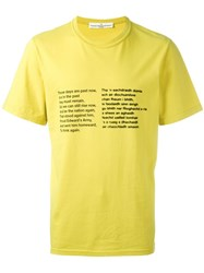Golden Goose Deluxe Brand Poem Print T Shirt Yellow And Orange