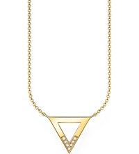 Thomas Sabo Triangle 18Ct Yellow Gold Plated Diamond Necklace