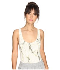 Free People Ready For The Weekend Bodysuit Neautral Combo Women's Jumpsuit And Rompers One Piece White