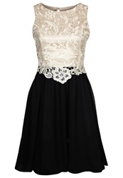 Little Mistress Cocktail Dress Party Dress Cream Black White