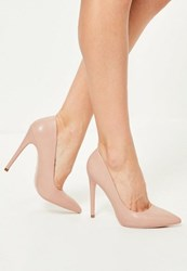 Missguided Pink Faux Leather Pointed Toe Court Shoes Blush