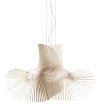 Lzf Mini Mikado 1 Light Suspension Ivory White E26 Standard Medium Base White Brown Blue
