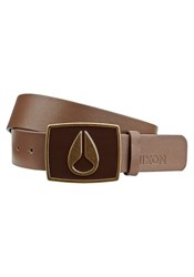 Nixon Dark Brown Enamel Icon Ii Belt