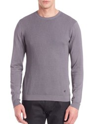 Armani Collezioni Crewneck Long Sleeve Sweater Grey