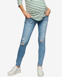 A Pea In The Pod Ag Jeans Maternity Distressed Skinny Jeans 20 Years Oceana