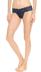 Cosabella Never Say Never Cutie Low Rise Thong Navy Blue