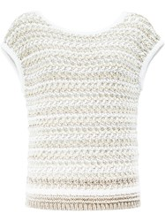 Maison Ullens Knitted Top White