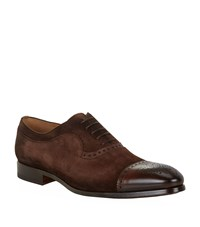 Magnanni Suede And Leather Oxford Male
