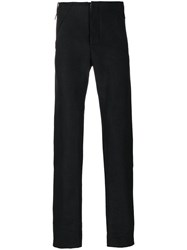 Lost And Found Ria Dunn Slim Fit Tailored Trousers Men Cotton Ramie Spandex Elastane Xl Black