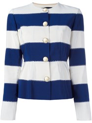 Rossella Jardini Striped Jacket Blue