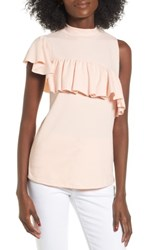 Women's Bp. Asymmetrical Ruffle Tee Pink Hero