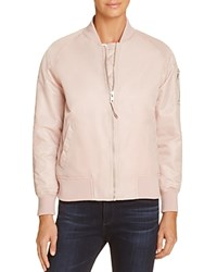 Aqua Flight Bomber Jacket Blush