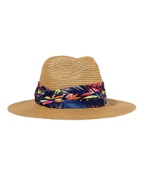 Eugenia Kim Billie Fedora W Printed Band Camel