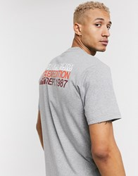Napapijri Sole Graphic T Shirt In Grey
