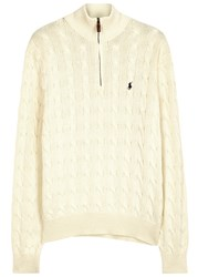 Polo Ralph Lauren Cream Cable Knit Cotton Jumper