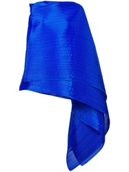 Issey Miyake Pleats Please By Pleated Wrap Scarf Blue