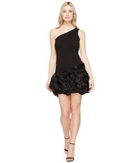 Jessica Simpson One Shoulder Ruffle Hem Dress Black