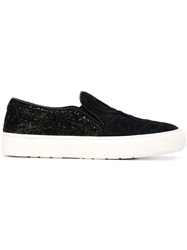 Markus Lupfer Embroidered Slip On Sneakers Blue