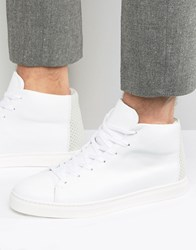 Selected Homme David Hi Top Trainers White