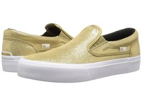 Dc Trase Slip On Xe Gold Women's Skate Shoes