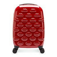 Lulu Guinness Lips Trolley Suitcase Red
